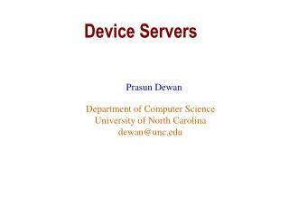 Device Servers