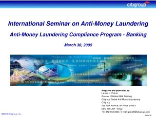 Anti-Money Laundering Goal