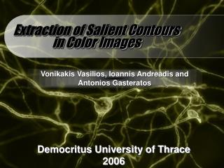 Extraction of Salient Contours in Color Images