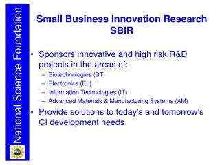 Small Business Innovation Research SBIR