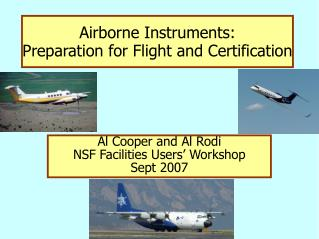 Airborne Instruments: Preparation for Flight and Certification