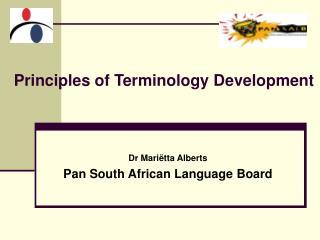 Principles of Terminology Development