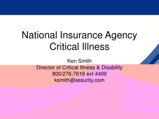 National Insurance Agency Critical Illness