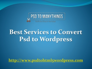 psd to wordpress conversion service