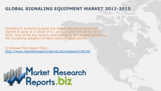 Global Signaling Equipment Market 2011-2015