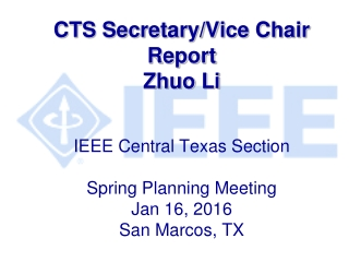 CENTRAL TEXAS SECTION  OF THE IEEE