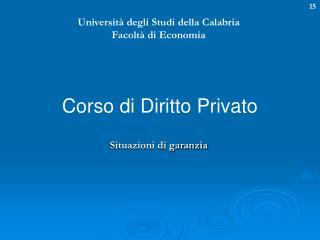 Universit  degli Studi della Calabria Facolt  di Economia