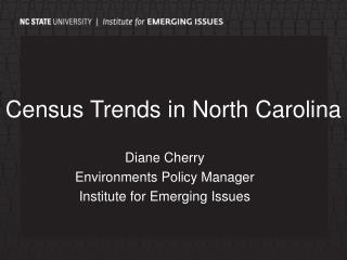 Census Trends in North Carolina