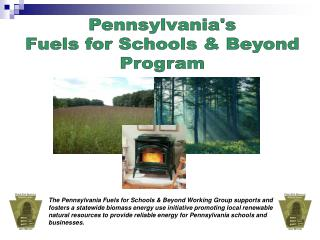 Pennsylvanias Fuels for Schools  Beyond Program