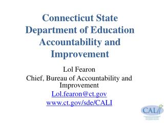 Connecticut State  Department of Education Accountability and Improvement