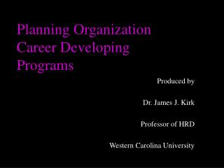 Planning Organization Career Developing Programs