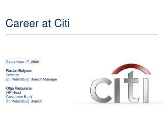 Career at Citi