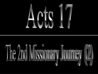 The 2nd Missionary Journey  2