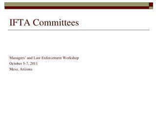 IFTA Committees