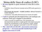 Stima delle linee di codice LOC