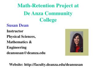 Math-Retention Project at De Anza Community College