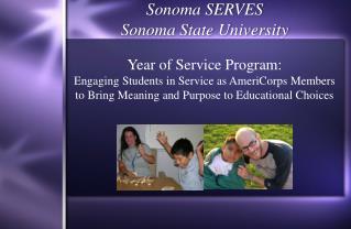 Sonoma SERVES Sonoma State University