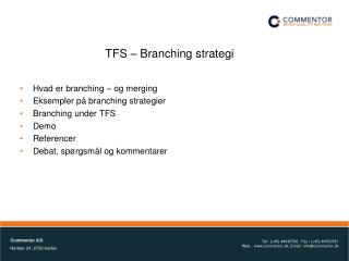 TFS   Branching strategi