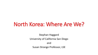 Regional nuclear challenges:  Northeast Asia