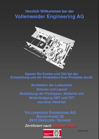 Herzlich Willkommen bei der Vollenweider Engineering AG