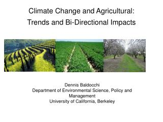 Climate Change and Agricultural: Trends and Bi-Directional Impacts