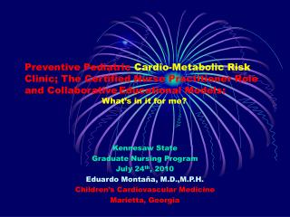 Preventive Pediatric Cardio-Metabolic Risk Clinic; The Certified Nurse Practitioner Role and Collaborative Educational M