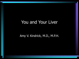You and Your Liver