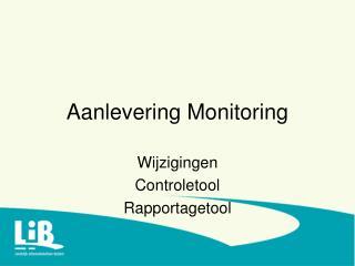Aanlevering Monitoring