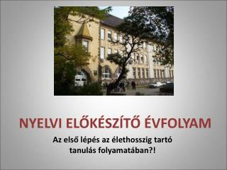 NYELVI ELOK SZ TO  VFOLYAM