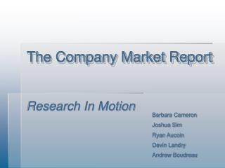 The Company Market Report
