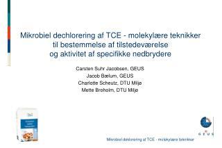 Mikrobiel dechlorering af TCE - molekyl re teknikker til bestemmelse af tilstedev relse og aktivitet af specifikke nedbr