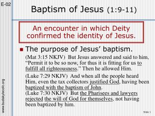 Baptism of Jesus 1:9-11