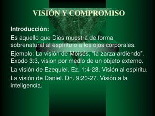 VISI N Y COMPROMISO