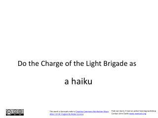 A haiku