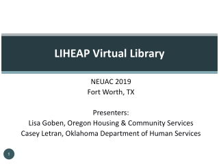 Presenting the Virtual Library
