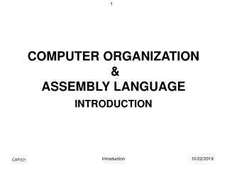 Computer Organization  Assembly Languages