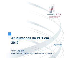 Atualiza  es do PCT em 2012