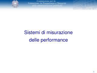 Sistemi di misurazione  delle performance