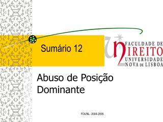 Sum rio 12
