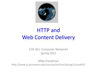 HTTP and  Web Content Delivery
