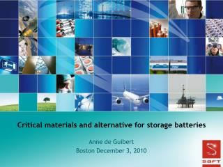 Critical materials and alternative for storage batteries