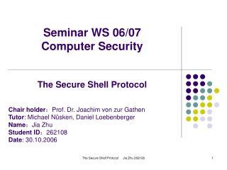 Seminar WS 06