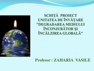 SCHITA  PROIECT UNITATEA DE  NVATARE DEGRADAREA MEDIULUI  NCONJURATOR SI  NCALZIREA GLOBALA
