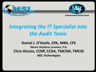 Integrating the IT Specialist into the Audit Team