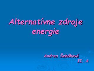 Alternat vne zdroje energie
