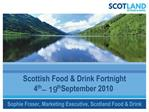 Scottish Food  Drink Fortnight  4th   19th September 2010