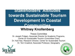 Stakeholders  Attitudes towards Sustainable Tourism Development in Coastal Communities