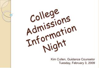 College  Admissions  Information  Night
