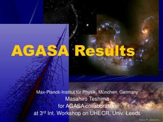 AGASA Results