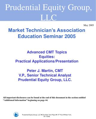 Market Technician s Association Education Seminar 2005